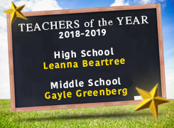 Teachers of the Year 2018-2019: Leanna Beartree and Gayle Greenberg